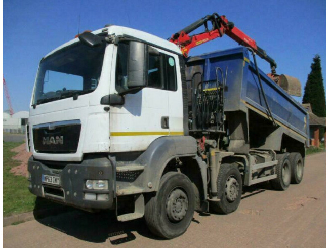 2014 MAN TGS 35.400 8x4 Tipper Grab, Epsilson M125 Crane, ULEZ Compliant