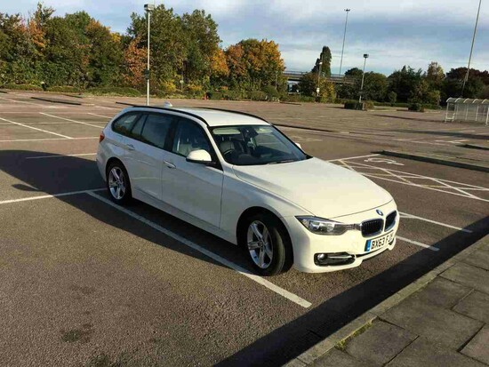 2013 BMW 318 Diesel Estate, White, 2 owners